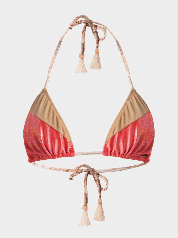 Coral and Champagne Gold bikini by ELIN RITTER IBIZA