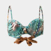Bandeau eco print bikini made in Ibiza