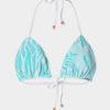 Elin Ritter Ibiza Bikinis triangle white lace aqua bikini top. Made in Ibiza