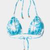 Elin Ritter Ibiza Bikinis turquoise blue palm tree print triangle bikini top. Made in Ibiza