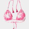 Elin Ritter Ibiza Bikinis pink palm tree print triangle bikini top. Made in Ibiza