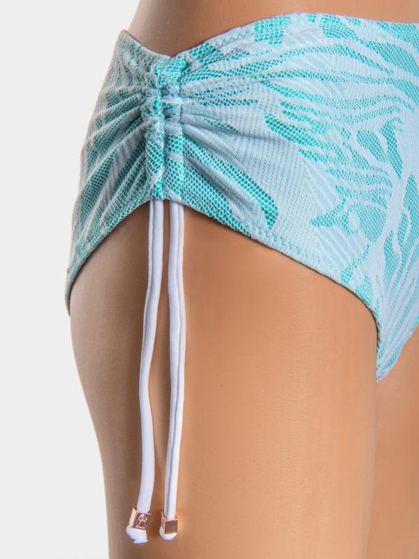 Elin Ritter Ibiza Bikinis high waist white lace aqua bikini drawstring bikini bottoms. Made in Ibiza